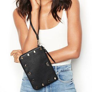 VS Heart Stud Night Out Wristlet Bag Black